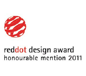 "Esse produto recebeu o Red Dot Communication Design Award ""Honourable Mention""."